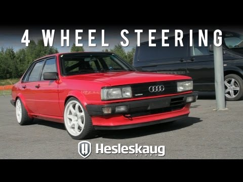 Audi 80 Quattro with 4 wheel steering