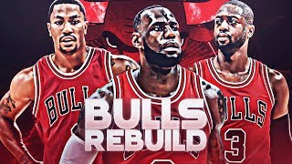 Lebron James + Dwyane Wade + Derrick Rose! 2010 Chicago Bulls Rebuild | NBA 2K19