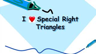 The Special Right Triangles Song