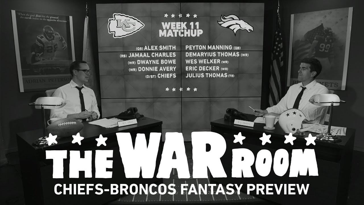 Chiefs vs Broncos Sunday Night Football Fantasy Preview - The War Room thumbnail