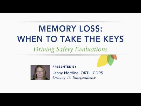 When to Take the Keys: Driving Safety Evaluations for Dementia–Jenny Nordine, ORTL,CDRS