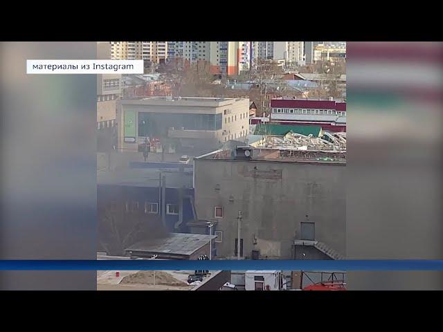 В Иркутске горит мусор