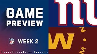 New York Giants vs. Washington Football Team | Week 2 NFL Game Preview
