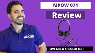 MPOW 071 USB Computer Headset Review - LIVE MIC & SPEAKER TEST
