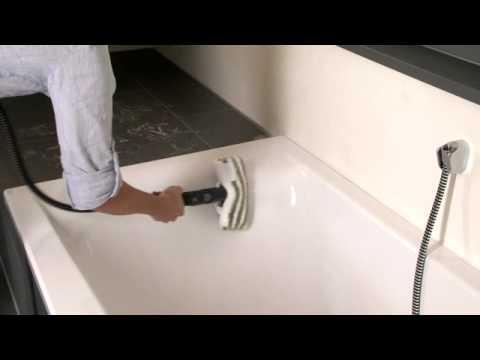 Καθαρισμός μπανιέρας και ντουζιέρας με ατμοκαθαριστή