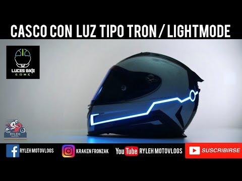Casco con luz tipo tron