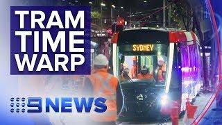 Tram travels through Sydney CBD for first time in 61 years   Nine News Australia