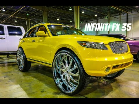 Infiniti FX 35 on 32 inch Savini Wheels in HD (Must See)