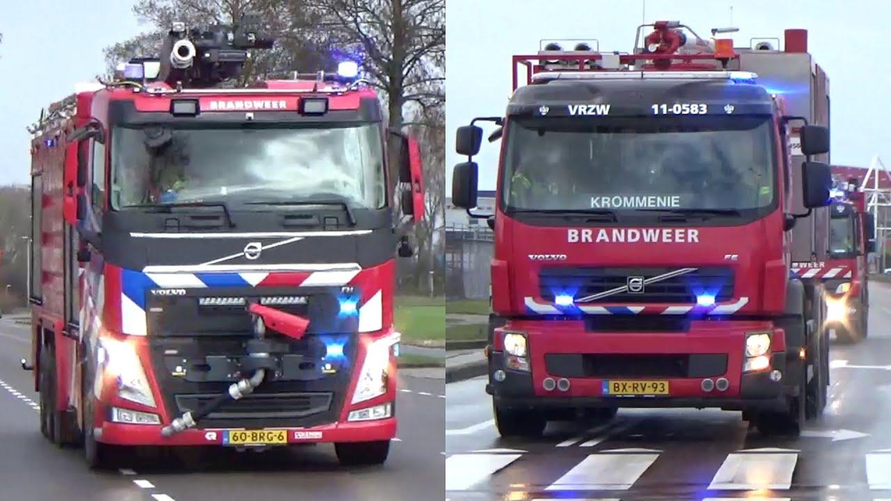 [PRIMEUR/Peletonbrand] PRIO 1 Brandweer (SBV Opmeer) met spoed naar een grote brand in Alkmaar!