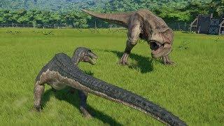 Baryonyx(Modified) VS T-Rex, Indominus Rex, Spinosaurus, Indoraptor, Giga - Jurassic World Evolution
