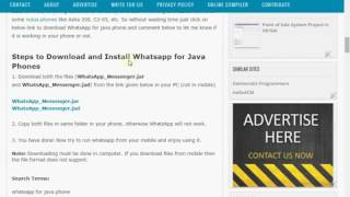 Download Whatsapp For Java Phone