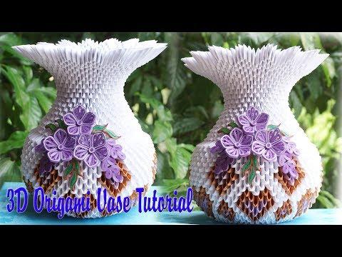 How To Make 3d Origami Vase V1 Diy Paper Vase Handmade Decoration