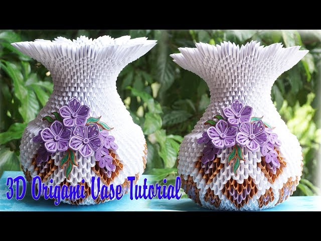 3d Origami Vase Tutorial Instruction 3d Origami Vase Flowers Mp3