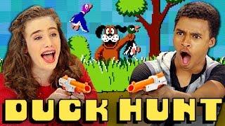 DUCK HUNT (NES) (Teens React: Retro Gaming)