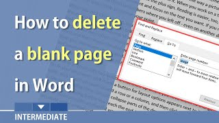 Microsoft Word - delete the empty or blank page at the end of your document by Chris Menard