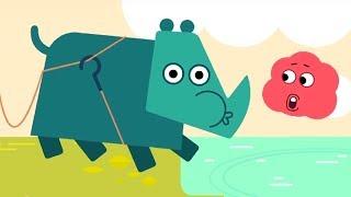 Мультфильм про машинки -  Грузовичок Пик - Носорог, который не умел плавать+Медленная улиточка