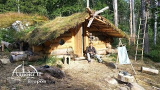 Off Grid Log Cabin Built By One Man: Log Gables And A Bushcraft Mystery