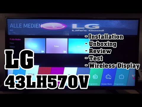 LG 43LH570V Smart TV, WIDI, Test, Miracast