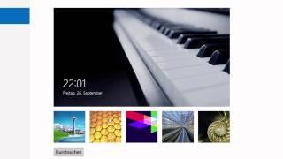 preview picture of video 'Windows 8: Wie man den PC einschaltet und sich anmeldet ...'