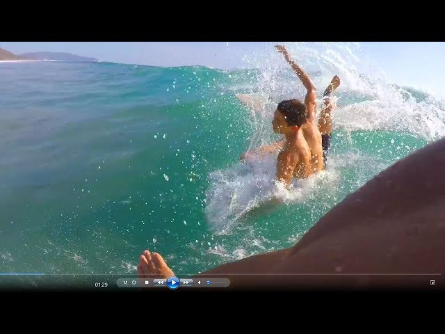 Surfing Too Close, Woops! - Gopro Pov Narration