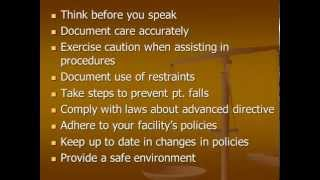 Legal and Ethical in nursing