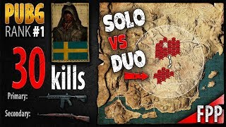 PUBG Rank 1 - punchrulle 30 kills [EU] DUO FPP - PLAYERUNKNOWN