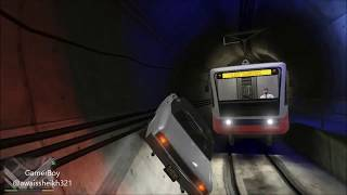 GTA 5 CaveEscape Train in the wayyou should ride on cave walls