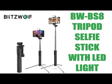 Τρίποδο/Selfie stick με αυτόνομο LED Light // Blitzwolf BW-BS8 - UNBOXING (by Banggood)