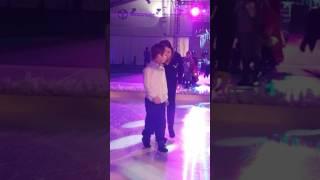 Dance like no one's watching. Kid dancing on ice