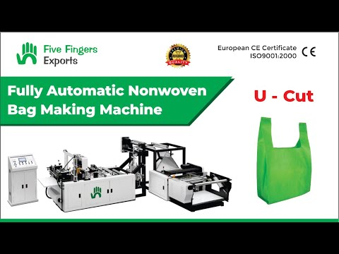Automatic Non woven W/U Cut Bag Making Machine