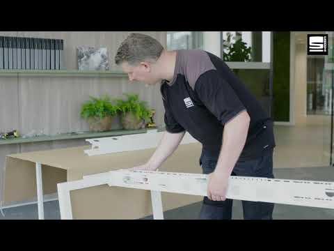 SWAN Montage van Swan werkplek hoekopstelling met steunpoot