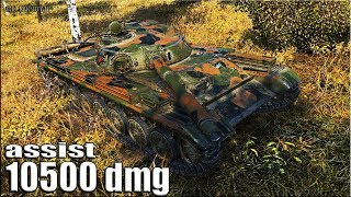 АКТИВНЫЙ СВЕТ 10500 dmg + 9 фрагов 🌟🌟🌟 World of Tanks лучший бой на Т-100 ЛТ (10 уровень)