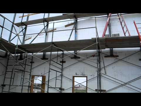 Fox Blocks How to Use frame scaffold hybrid on tall wall Insulated Concrete Forms