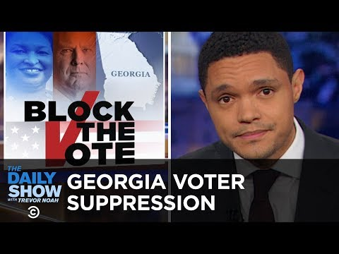 GOP Voter Suppression Ramps Up in Georgia | The Daily Show