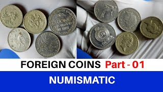 Foreign Coins Display   Rare foregin coins   Coin collection One Pound,Pence,Rupee,france   Numisman