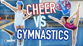 Cheerleader Tries Gymnastics for the First Time!