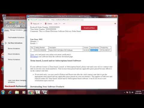How to Activate Your Rockwell Software - YouTube