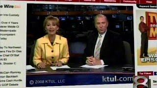 KTUL-TV, Ch. 8 Tulsa, OK, 6 PM news close, from September 29, 2008