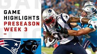 Patriots vs. Panthers Highlights   NFL 2018 Preseason Week 3