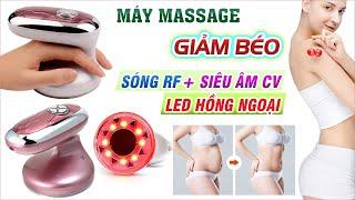 Video máy massage giảm béo bằng tần số vô tuyến Radio kết hợp siêu âm CV và đèn hồng ngoại 3in1