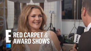 Drew Barrymore Puts Family First During 2017 Globes Weekend  E Live From The Red Carpet
