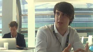 Bitcoin 2014 conference - Interviewing Nejc Kodrič
