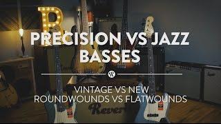 Precision vs Jazz Basses: Early Vintage vs American Professional Series | Reverb Shootout Demo