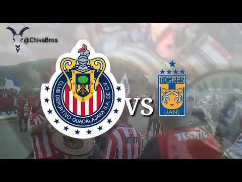 """""""La Irreverente vs tigres  Recibimiento a chivas  Caravana Rojiblanca La banda de Chivas"""" Barra: La Irreverente • Club: Chivas Guadalajara"""