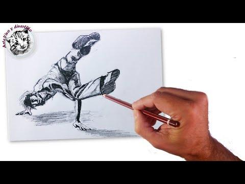 Como dibujar la figura humana en movimiento 1 un bailarin - Como pintarse bien ...