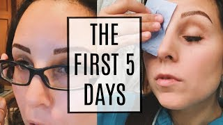 MICROBLADING HEALING PROCESS .. THE FIRST 5 DAYS!