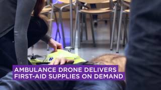 Ambulance Drone Delivers First Aid Supplies On Demand