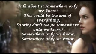Somewhere Only We Know lyrics, Max Schneider and Elizabeth Gillies
