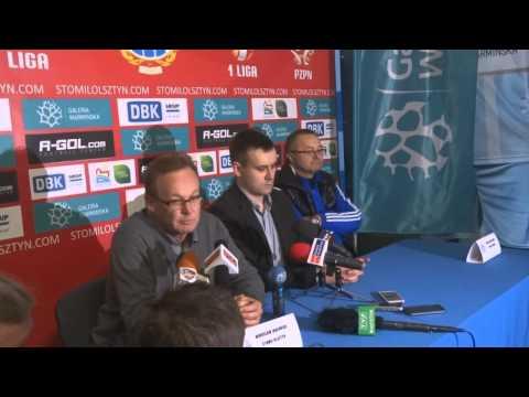Konferencja prasowa po meczu Stomil Olsztyn - Wigry Suwałki