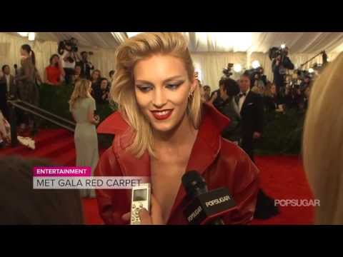 Anja Rubik On Her Goth Phase | Met Gala Interview | Fashion Flash